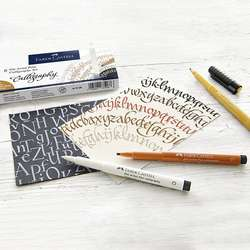 Faber Castell - Faber Castell Calligraphy Seti 6lı 167506 (1)