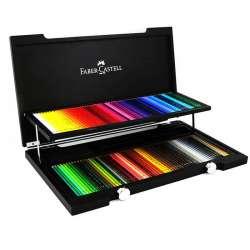 Faber Castell - Faber Castell Polychromos Colour Pencils 120li Set Ahşap Kutu