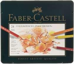 Faber Castell - Faber Castell Polychromos Colour Pencils 24lü Set