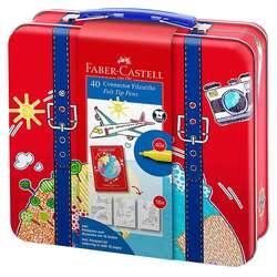 Faber Castell - Faber Castell Connector Keçeli Kalem Seyahat Çantası 40lı 155535