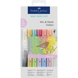 Faber Castell - Faber-Castell Gelatos Pastel Renkler 15li Set