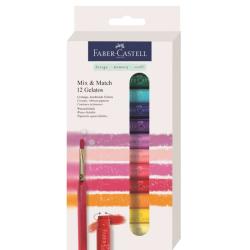 Faber Castell - Faber Castell Gelatos Mum Boya Setler 12li Set