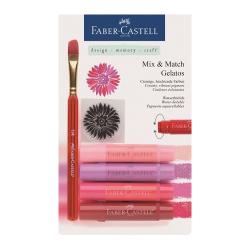 Faber Castell - Faber Castell Gelatos Mum Boya Setler Kırmızı Tonlar
