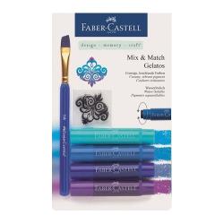 Faber Castell - Faber Castell Gelatos Mum Boya Setler Mavi Tonlar