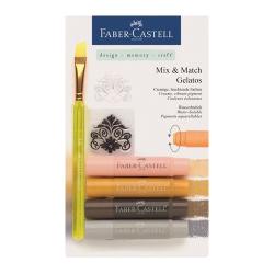Faber Castell - Faber Castell Gelatos Mum Boya Setler Naturel Tonlar