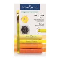 Faber Castell - Faber Castell Gelatos Mum Boya Sarı Tonları 4 Renk