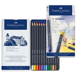 Faber Castell - Faber Castell Goldfaber Renkli Boya Kalemi 12li Set