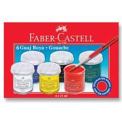 Faber Castell - Faber Castell Guaj Boya Takımı 6 Renk
