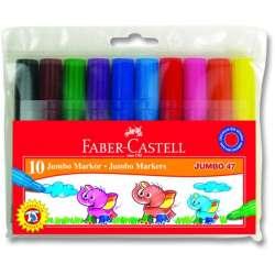 Faber Castell - Faber Castell Jumbo Markör 10lu 30047