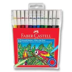 Faber Castell - Faber Castell Keçeli Kalem Setleri 12li Set