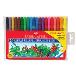 Faber Castell - Faber Castell Keçeli Kalem Setleri 20li Set