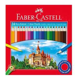 Faber Castell - Faber Castell Kuru Boya Takımı 24 Renk