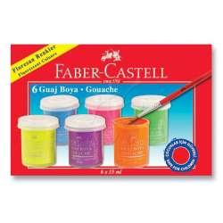 Faber Castell - Faber Castell Neon Guaj Boya Takımı 15ml 6 Renk 5170160403