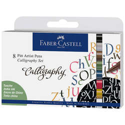 Faber Castell - Faber Castell Pitt Artist Pens Calligraphy Seti 8li 167508