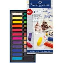 Faber Castell - Faber Castell Creative Studio Yarım Boy Soft Pastel 24lü Kod:128224