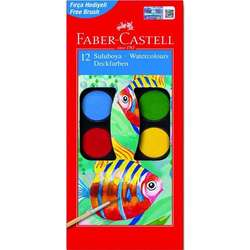Faber Castell - Faber Castell Sulu Boya Setleri Küçük Boy 12li