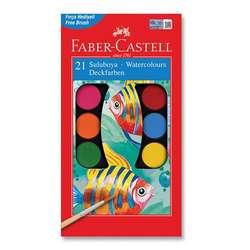 Faber Castell - Faber Castell Sulu Boya Setleri Büyük Boy 21li