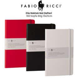 Fabio Ricci - Fabio Ricci Elio Noktalı Not Defteri 160 Sayfa 80g 13x21cm