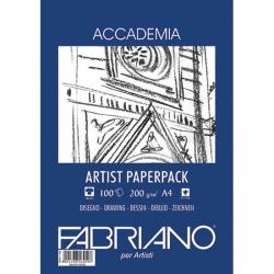 Fabriano - Fabriano Accademia Artist Paperback A4 200g 100 Sayfa