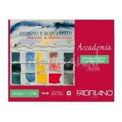 Fabriano - Fabriano Maxi Blocco Accademia Watercolor Sulu Boya Blok 27x35cm 240g 100 Yaprak