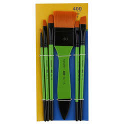 Fanart - Fanart Academy Seri 400 Fırça Seti No:1 6lı