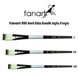Fanart - Fanart 910 Seri Düz Kesik Uçlu Fırça