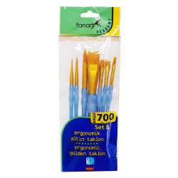 Fanart - Fanart Ergonomik Altın Taklon Fırça Seti 700 Seri 7li Set 8