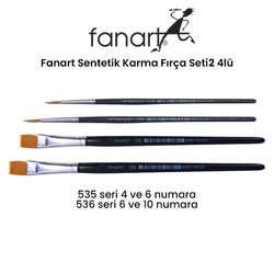 Fanart - Fanart Sentetik Karma Fırça Seti 2 4lü