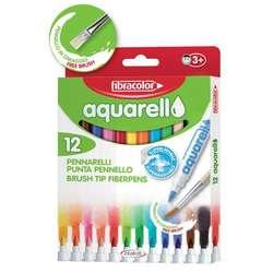 Fibracolor - Fibracolor Aqurello Aquarell Keçeli Kalem 12li