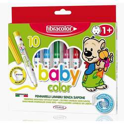 Fibracolor - Fibracolor Baby Color Keçeli Kalem Seti 10 Renk