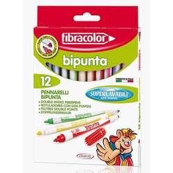 Fibracolor - Fibracolor Bipunta Keçeli Boya Takımı 12 Renk