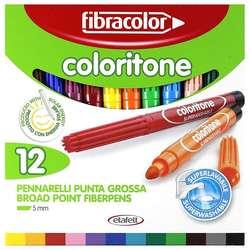 Fibracolor - Fibracolor Coloritone Keçeli Kalem Seti 12 Renk