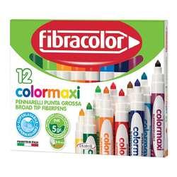 Fibracolor - Fibracolor Colormaxi Keçeli Kalem 12 Renk