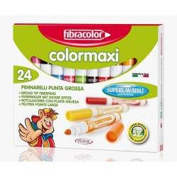 Fibracolor - Fibracolor Colormaxi Keçeli Kalem 24 Renk