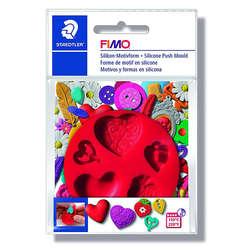 Fimo - Fimo Silikon Desen Kalıbı Kalpler 872523