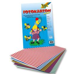 Folia - Folia Fotokarton 50x70cm Çizgili