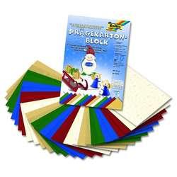 Folia - Folia Proge Kartonu 24x35cm Yaprak Blok Seçilmiş Renkler Yılbaşı No: 64649
