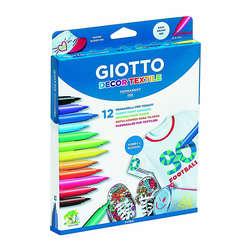 Giotto - Giotto Decor Textile Kumaş Boyama Kalemi 12 Renk 494900