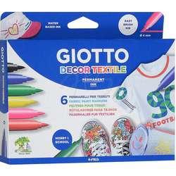 Giotto - Giotto Decor Textile Kumaş Boyama Kalemi 6 Renk 494800