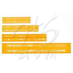 Hatas - Hatas Teknik Resim Yazı Seti Şablonu 3-5-7-10mm 02250 (1)