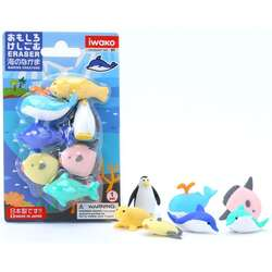 Anka Art - Iwako Puzzle Silgi 7li Marine Animals