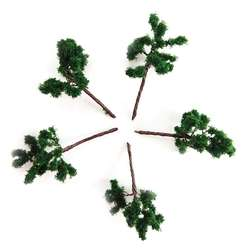 Jordania - Jordania Metal Ağaç Maketi 3.5cm 1/200 5li G3517 (1)
