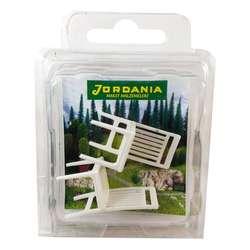 Jordania - Jordania Sandalye Maketi Beyaz 1/25 2li EF3025-03