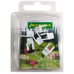 Jordania - Jordania Sandalye Maketi Beyaz 1/50 6lı E3050