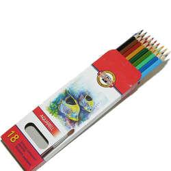 Koh-i-Noor - Koh-i-Noor Aquarell Pencil Sulu Boya Kalemi Balık 18li 3717