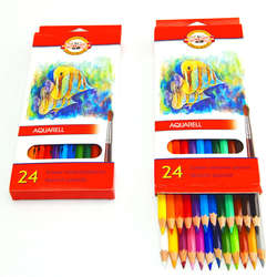 Koh-i-Noor - Koh-i-Noor Aquarell Pencil Sulu Boya Kalemi Balık 24lü 3718