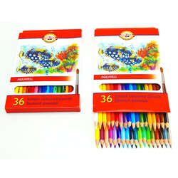 Koh-i-Noor - Koh-i-Noor Aquarell Pencil Sulu Boya Kalemi Balık 36lı 3719