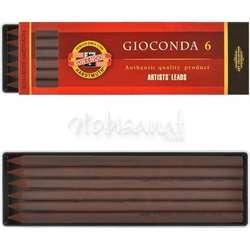 Koh-i-Noor - Koh-i-Noor Gioconda Grafit Uç 5.6 x 120mm 6lı 4378 Dark Brown Sepia