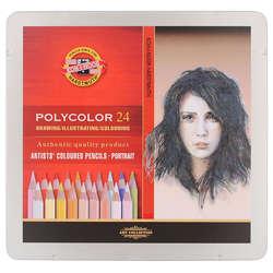 Koh-i-Noor - Koh-i-Noor Polycolor Kuru Boya Kalemi 24lü Set Portrait (1)