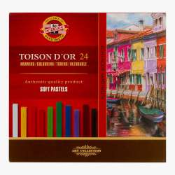Koh-i-Noor - Koh-i-Noor Toison Dor Soft Pastel Köşeli 24lü (8584) (1)